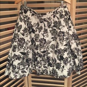 Talbots a-like floral skirt.